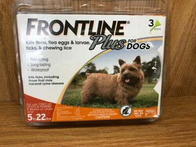 FRONTLINE Plus, 5 - 22 lbs Dogs - 3 Individual Doses, NoBox
