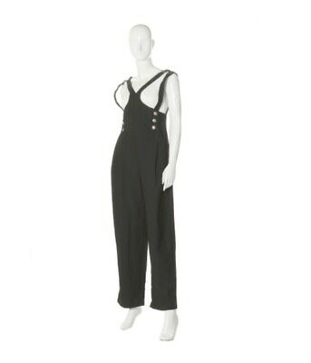 44d80ec85d86 Vintage Gianni Versace Couture Jumpsuit Early 1990's With Iconic Safety Pins