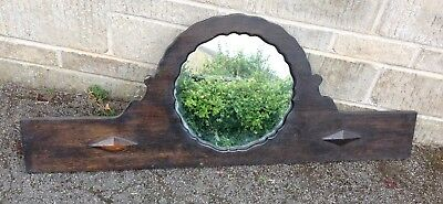 Vintage Deco Style Oak Over Mantle Mirror Shabby Chic Project ( Pick Up Only )