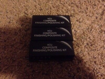 Brasseler Burs Lot Of 3 Vcu Composite Finishing Polishing Kits