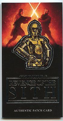 2015 Star Wars Revenge of the Sith 3D Widevision Silver Patch Card #3 C-3PO