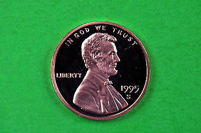 1995-S  Deep Cameo Lincoln Penny US GEM  Proof Coin