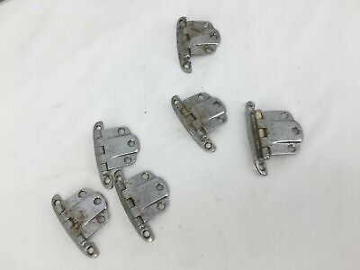 6 Antique Chrome Refrigerator Hinges