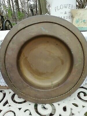 Antique Islamic Persian Brass Hand Washing Bowl Rope Design Circa 1900