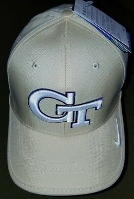 huge discount 89ca4 6d3c7  1267 Nike Dri Fit GT Georgia Tech One Size Adjustable GOLD NWT Free  Shipping