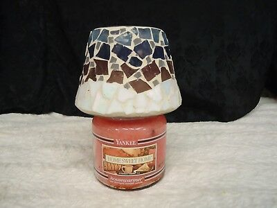 MOSAIC LARGE JAR CANDLE SHADE ( does not come with candle )