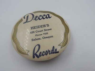 Decca Records Vintage Advertising Record Phonograph Cleaner 1920s Salem OR