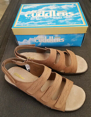 b044b07e9fe5 New Women s Cobbie Cuddlers Beatrice Sandal -- Style 52070 -- Brown Suede  in Box