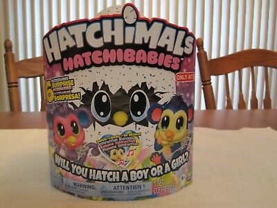 "Hatchimals Hatchibabies Boy Or Girl ""Monkiwi""--Target Exclusive--New"