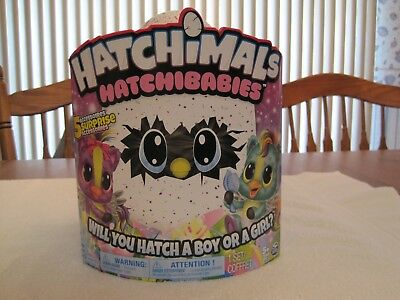 "Hatchimals Hatchibabies Boy Or Girl ""Ponette""---New"