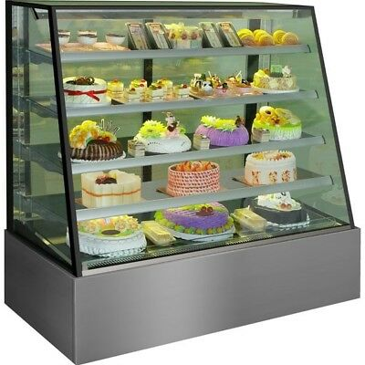 Used Commercial Chilled Cold Cake Food Display Refrigerated Cabinet Cafe
