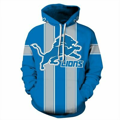 reputable site 83ed6 49f56 DETROIT LIONS HOODIE Medium-XXL 2XL Unisex Men Women Football Michigan