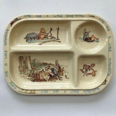 Classic Winnie the Pooh Divided Plate Tray Melamine Unbreakable Vintage Selandia