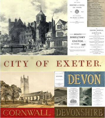 555 PDFs Devon Dorset Cornwall Exeter Isles of Scilly History Directories