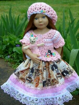 Handmade Spring Kitten Ensemble Clothes Outfit for Kidz n Cats Doll