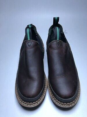 36c04e04570 Georgia Giant Women s Romeo Work Shoes GR362 Brown Leather Pull On Size 8.5  W
