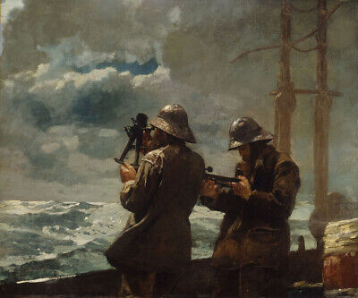 Eight Bells Winslow Homer Sailors Soldier On Ship Sea Impressionist Oil Painting