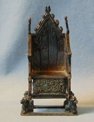 CSFS Sterling Silver London 1901 Edwards Coronation Throne Doll House Furniture