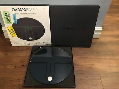 Qardio Base 2 Wireless Smart Scale and Body Analyzer - Black - (B200IVB)