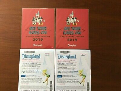 Disneyland Resident 3-Day/1 Park Per Day Tickets - 1 pair w/pictures