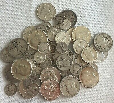 1/2 Ounce Lot-U CHOOSE TYPE COINS90% U.S.Silver coin 1964/older NO SCULLS 1/2Oz@