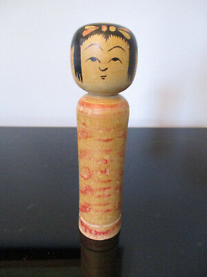 Vintage Japanese Kokeshi Girl Doll Hand Painted Wood Wooden Japan Signed! 8