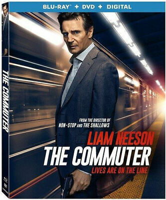 The Commuter (Blu-Ray+DVD+Digital) - NEW / SEALED + Slipcover