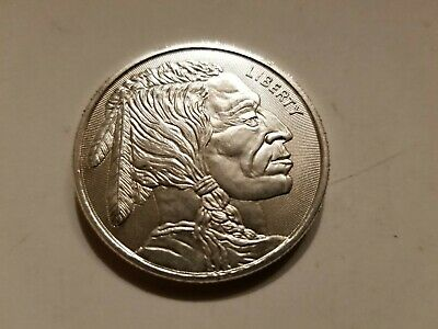 American Indian Buffalo 1 Troy Oz .999 Silver Round*Seller Bill/Coin Auction Now