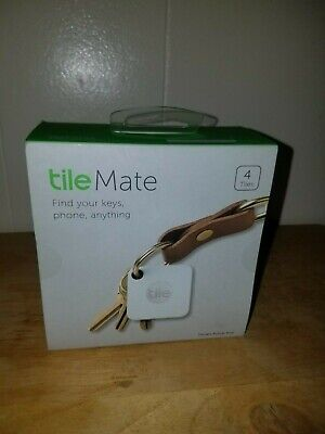 NEW Tile Mate and Slim Combo Pack 4 Pack White Tracker Key Phone Bluetooth