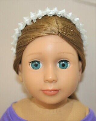American Girl Doll Our Generation Journey 18 Dolls Clothes White Lace Headband