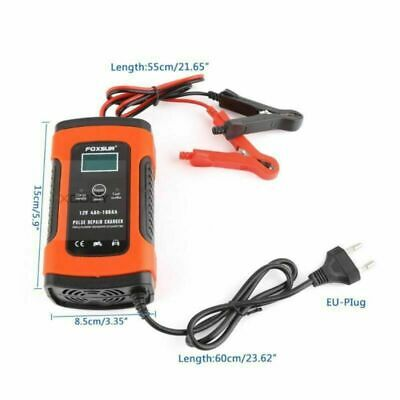12V Volt Multi-Purpose Portable Battery Charger for Motorcycle Boat Car 6A DC