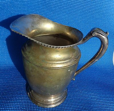 WATER PITCHER Crescent 3155 Pedestaled SILVERPLATE
