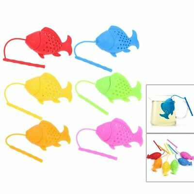 Fish Shaped Loose Tea Leaf Strainer Spice Herbal Infuser Filter Silicone Teapot