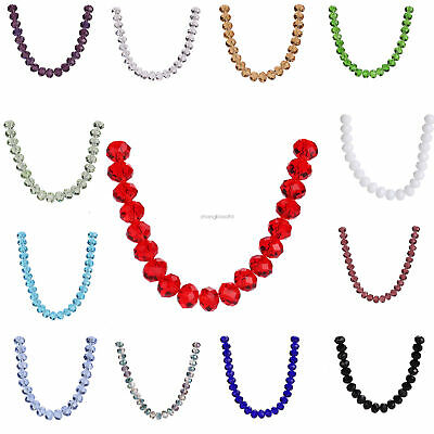 10pcs 16mm Rondelle Faceted Crystal Glass Spacer Beads Loose Diy Bead Wholesale