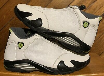 premium selection 3f05b 851ef 2005 Air Jordan 14 XIV Retro White Chartreuse Black 311832-132 Men s size 13
