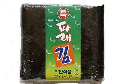 Korean Parae Seaweed Dried Laver KOREA FOOD sushi gimbab nori 100 sheets