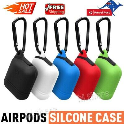 Moretek for Apple Airpods Cover Case Premium Silicone Shockproof Waterproof Skin