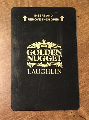 Golden Nugget Hotel & Casino Laughlin Nevada Black Souvenir Room Key Card