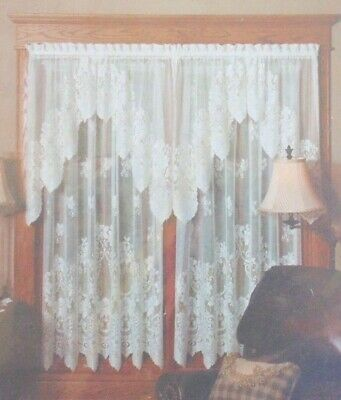 Heritage Lace Curtains Cleremont Valance 60x16 White 8250W