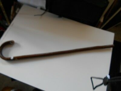 """Bent Chestnut Wood Walking Stick In Good Used Condition - 34"""" Overall #8"""
