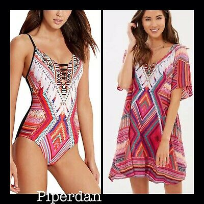 a8c1fab6a04d9 NEW! SEAFOLLY WOMEN'S Desert Tribe Kaftan Swimsuit Cover Up, O/S ...