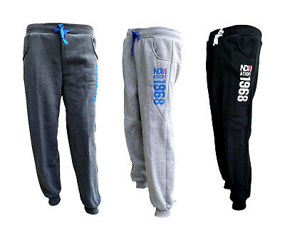 New Men's Jogger Track Pants Slim Cuff Trackies Fleece Lined Trousers