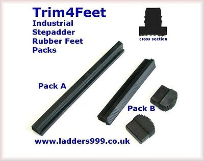 RUBBER STEP LADDER FEET 2 PAIRS OF 40MM X 20MM REPLACEMENT LADDER