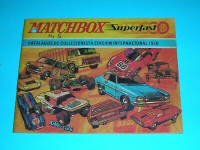 Catalog Matchbox 1970 - 1971- 1972/73- 1973/74- 1974/75- 1976- 1981- 1981/82