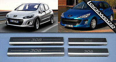 Peugeot 308 Stainless Steel Sill Protectors / Kick Plates