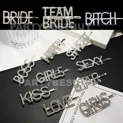 Team Bride To Be Hair Clip Letters Hairpin Barrette Slide Hen Party Wedding
