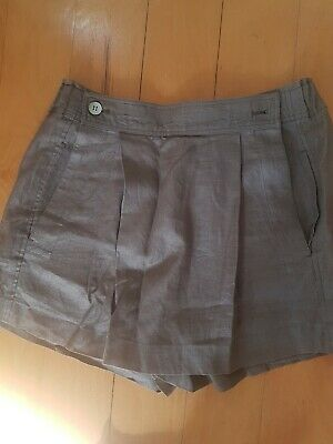 Vintage PLANTATION Issey Miyake JAPAN LIGHT BROWN PLEATED Linen Shorts