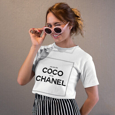 Womens Coco To My Chanel T Shirt Girls Summer Chic Instagram Tee Blogger Look