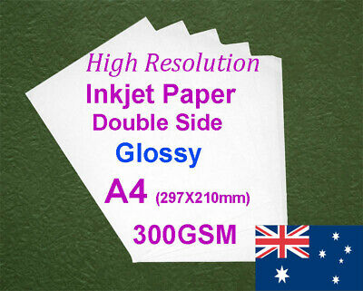 25 sheets A4 300GSM Inkjet & Laser Double Side Glossy Photo Paper
