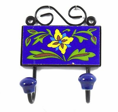 Nice home Decorative Ceramic Tile Fitted Iron Wall Hanging Hook hanger i75-60 UK